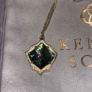 Kendra Scott Kacey Necklace in Gold and Abalone